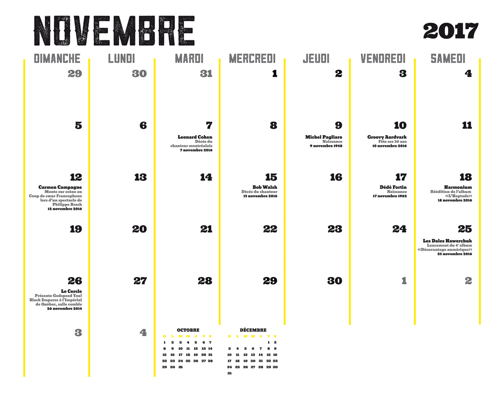 Ligue Rock 6 - Calendrier - Dates